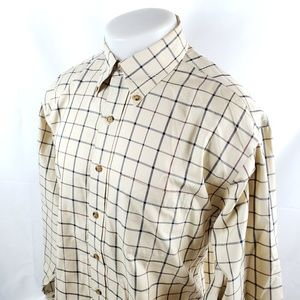 Brooks Brothers Men Button Front Shirt Large Plaid